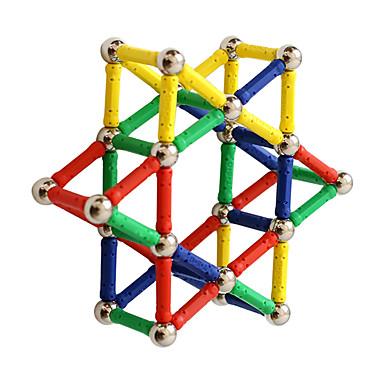 مكعبات مغناطيسية العصي المغناطيسية البلاط المغناطيسي 60 pcs خلاق التحويلية التفاعل بين الوالدين والطفل الجميع للصبيان للفتيات ألعاب هدية