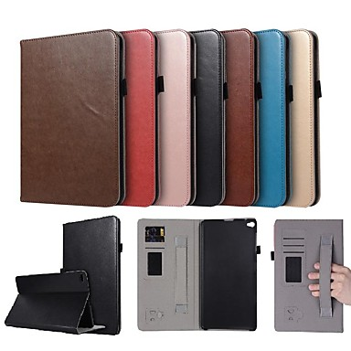 غطاء من أجل Huawei Huawei MediaPad T2 10.0 Pro حامل البطاقات / مع حامل / مغناطيس غطاء كامل للجسم لون سادة قاسي جلد PU