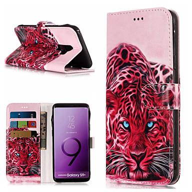 غطاء من أجل Samsung Galaxy S9 / S9 Plus / S8 Plus محفظة / حامل البطاقات / مع حامل غطاء كامل للجسم حيوان قاسي جلد PU