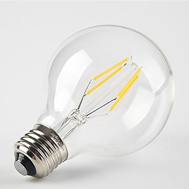 1PC 4 W مصابيحLED 360 lm E26 / E27 G80 4 الخرز LED COB ديكور أبيض دافئ 220-240 V / بنفايات
