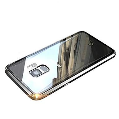 غطاء من أجل Samsung Galaxy S9 / S9 Plus / S8 Plus مغناطيس غطاء كامل للجسم لون سادة قاسي معدن