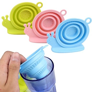 طوي الحلزون infuser سيليكون فضفاض أوراق الشاي مصفاة تصفية العشبية