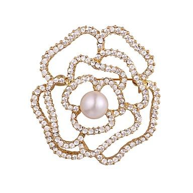 نسائي دبابيس متعدد الطبقات سيدات موضة بروش مجوهرات ذهبي فضي من أجل هدية مناسب للبس اليومي