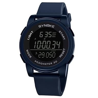 Χαμηλού Κόστους Ανδρικά ρολόγια-SYNOKE Ανδρικά Αθλητικό Ρολόι Ψηφιακό ρολόι Ψηφιακό σιλικόνη Μαύρο / Γκρι / Ναυτικό 50 m Ανθεκτικό στο Νερό Ημερολόγιο Χρονογράφος Ψηφιακό Καθημερινό - Σκούρο μπλε Γκρίζο Πράσινο / Διπλές Ζώνες Ώρας