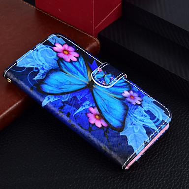 غطاء من أجل Samsung Galaxy J7 (2017) / J5 (2017) / J3 (2017) محفظة / حامل البطاقات / مع حامل غطاء كامل للجسم فراشة قاسي جلد PU