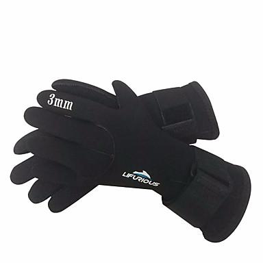 الغوص قفازات 3mm النيوبرين اصبع كامل الدفء, يمكن ارتداؤها, Skidproof غوص / الرياضات المائية