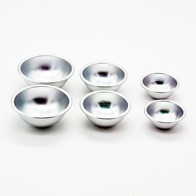 أدوات خبز الالومنيوم متعددة الوظائف / 3D / اصنع بنفسك لالآيس كريم / تبرعم دائري قوالب الكيك 6PCS