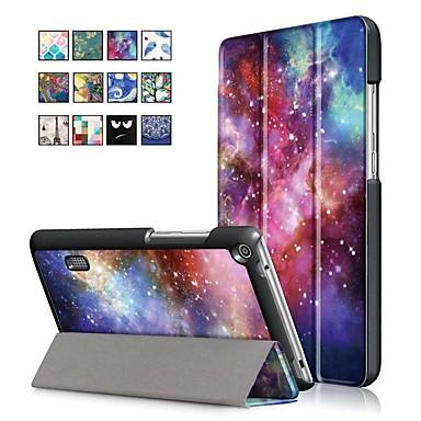 غطاء من أجل Huawei Huawei MediaPad T3 7.0 مع حامل / مغناطيس غطاء كامل للجسم رسم زيتي قاسي جلد PU