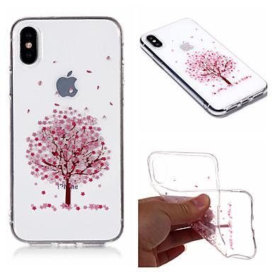 غطاء من أجل Apple iPhone X / iPhone 8 Plus / iPhone 8 IMD / شفاف / نموذج غطاء خلفي شجرة / زهور ناعم TPU