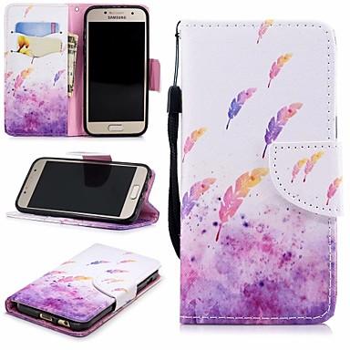 غطاء من أجل Samsung Galaxy A3 (2017) محفظة / حامل البطاقات / مع حامل غطاء كامل للجسم الريش قاسي جلد PU