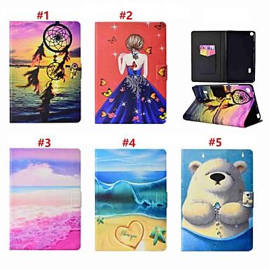 غطاء من أجل Huawei Huawei MediaPad T3 7.0 حامل البطاقات / مع حامل / مغناطيس غطاء كامل للجسم امرآة مثيرة / حيوان / ملاحق الأحلام قاسي جلد PU