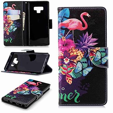 غطاء من أجل Samsung Galaxy Note 9 / Note 8 محفظة / حامل البطاقات / مع حامل غطاء كامل للجسم البشروس طائر مائي قاسي جلد PU
