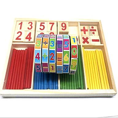 نمط هندسي رقم الخشب والبلاستيك المركب / خشبي / بامبو قطع الطفل / ابتدائي هدية