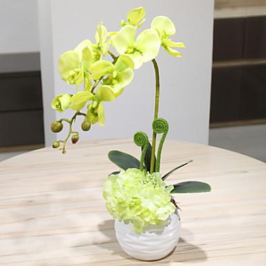 زهور اصطناعية 1 فرع كلاسيكي أسلوب بسيط الأوركيد / السحلبية أزهار الطاولة