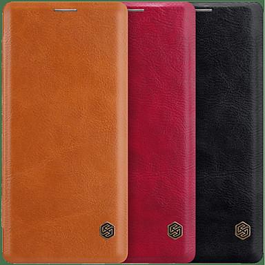 voordelige Galaxy Note-serie hoesjes / covers-Nillkin hoesje Voor Samsung Galaxy Note 9 / Note 8 Kaarthouder / Flip Volledig hoesje Effen Hard PU-nahka voor Note 9 / Note 8