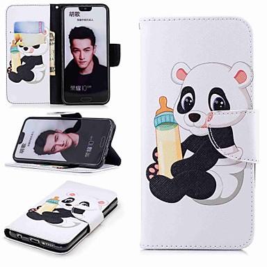 غطاء من أجل Huawei Huawei Honor 10 / Honor 7X / Huawei Honor 7C(Enjoy 8) محفظة / حامل البطاقات / مع حامل غطاء كامل للجسم باندا قاسي جلد PU