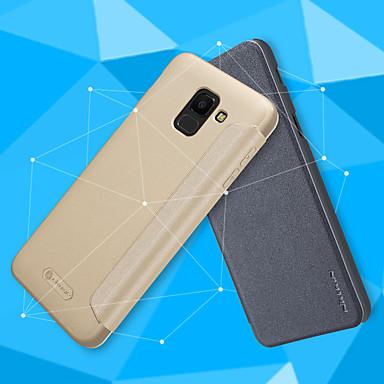 voordelige Galaxy J-serie hoesjes / covers-Nillkin hoesje Voor Samsung Galaxy J6 / J4 Flip / Mat Volledig hoesje Effen Hard PU-nahka voor J7 Duo / J6 / J4