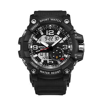 1d78653f4 رخيصةأون ساعات الرجال-رجالي ساعة رياضية ساعة رقمية ياباني رقمي نايلون أسود  / أحمر /
