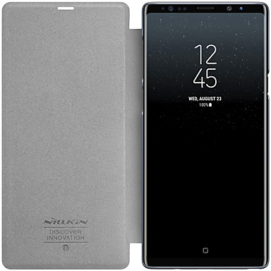 Недорогие Чехлы и кейсы для Galaxy Note-Nillkin Кейс для Назначение SSamsung Galaxy Note 9 Матовое / Прозрачный Чехол Однотонный Твердый Кожа PU для Note 9