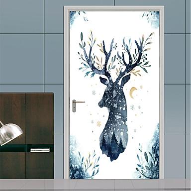 ملصقات الباب - لواصق / ملصقات الحائط الحيوان حيوانات / الأزهار / النباتية حضانة / غرفة الأطفال