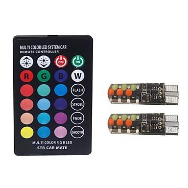2pcs T10 سيارة لمبات الضوء 2 W COB 100 lm 6 LED أضواء ماركر الجانبية من أجل