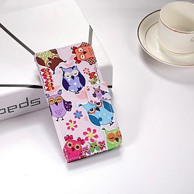 غطاء من أجل Huawei Huawei P smart / Huawei Enjoy 7S محفظة / مع حامل / قلب غطاء كامل للجسم بوم قاسي جلد PU