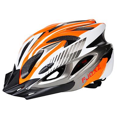 للبالغين خوذة دراجة 18 المخارج قياس قابل للتعديل ESP + PC رياضات أخضر / الدراجة الدراجة - أسود / أحمر أسود / أزرق فضي + برتقالي رجالي نسائي للجنسين