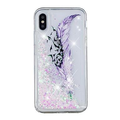 iPhone X X disegno Per retro iPhone iPhone 8 8 Plus Custodia cascata 8 Per iPhone Piume a Morbido Plus Fantasia Liquido TPU iPhone Apple 06878497 Transparente per 7qItAwAnxR
