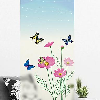 فيلم نافذة وملصقات زخرفة بسيط ورد / بسيط PVC ملصق النافذة