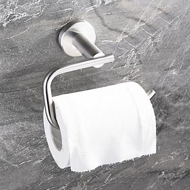 حاملة ورق التواليت تصميم جديد / كوول معاصر الفولاذ المقاوم للصدأ / الحديد 1PC حمالة ورق تواليت مثبت على الحائط