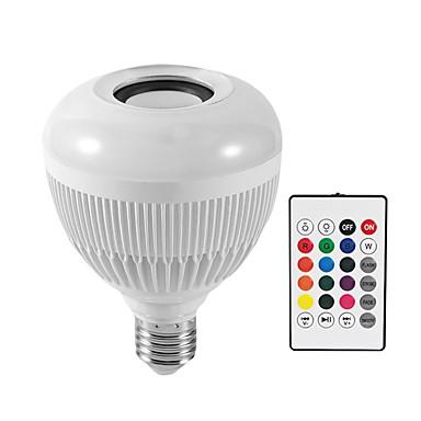 KWB 1PC 12 W مصابيح صغيرة LED 1200 lm E26 / E27 G95 28 الخرز LED مصلحة الارصاد الجوية بلوتوث Smart تخفيت RGBW 100-240 V / بنفايات