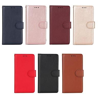 غطاء من أجل Xiaomi Redmi Note 5A / Xiaomi Redmi Note 4X / Xiaomi Redmi Note 4 محفظة / حامل البطاقات / مع حامل غطاء كامل للجسم لون سادة قاسي جلد PU