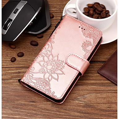 Недорогие Чехлы и кейсы для Galaxy S6 Edge-Кейс для Назначение SSamsung Galaxy S9 / S9 Plus / S8 Plus Кошелек / Бумажник для карт / со стендом Чехол Кружева Печать Твердый Кожа PU