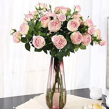 زهور اصطناعية 1 فرع كلاسيكي فردي أنيق النمط الرعوي الفاوانيا أزهار الطاولة
