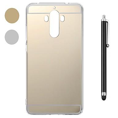 voordelige Huawei Mate hoesjes / covers-hoesje Voor Huawei Mate 10 / Mate 10 pro / Huawei Mate 7 Schokbestendig / Beplating / Spiegel Achterkant Effen Zacht Muovi / Metaal / Mate 9 Pro