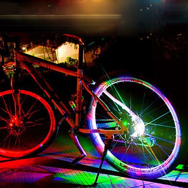 LED اضواء الدراجة أضواء ديكور أضواء عجلة دراجة جبلية ركوب الدراجة ضد الماء كوول وسائط متعددة بطارية قابلة لإعادة الشحن 50 lm تغيير أخضر