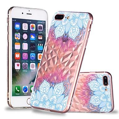 voordelige iPhone 6 hoesjes-hoesje Voor Apple iPhone X / iPhone 8 Plus / iPhone 8 Transparant / Patroon Achterkant Mandala Zacht TPU