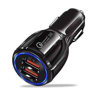 Недорогие Автомобильные зарядные устройства-Автомобильное зарядное устройство Зарядное устройство USB Универсальный Несколько разъемов / QC 3.0 2 USB порта 3.1 A DC 12V-24V для iPhone X / iPhone 8 Pluss / iPhone 8