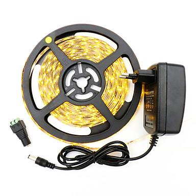 HKV 5m شرائط قابلة للانثناء لأضواء LED 300 المصابيح 3528 SMD أبيض دافئ / أبيض كول / أحمر قابل للقص / قابلة للربط / اللصق التلقي 12 V 1PC