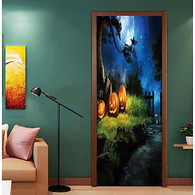 ملصقات الباب - لواصق / عطلة ملصقات الحائط Halloween / الأزهار / النباتية حضانة / غرفة الأطفال