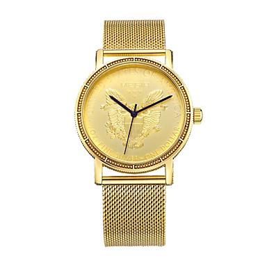 MEGIR رجالي ساعة رياضية ساعة فستان ياباني كوارتز ستانلس ستيل ذهبي 30 m مقاوم للماء ساعة كاجوال كوول مماثل كلاسيكي كاجوال موضة - ذهبي