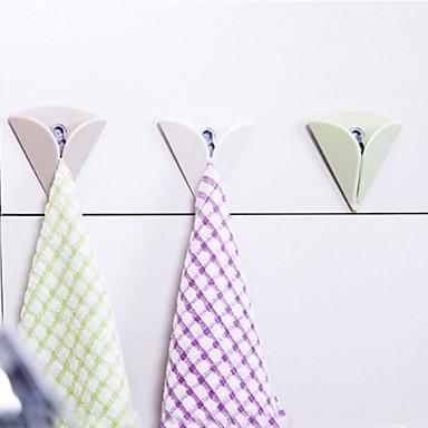 من السهل تثبيت منشفة حامل منشفة قماش سادة شفط دفع في هوك