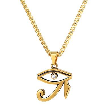 Bărbați Coliere cu Pandativ Ochi Modă egiptean Hip Hop Teak Auriu Negru Argintiu 55 cm Coliere Bijuterii 1 buc Pentru Cadou Zilnic