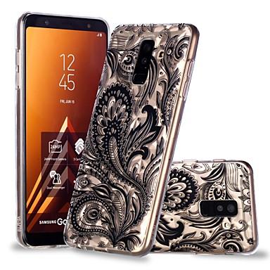 غطاء من أجل Samsung Galaxy A6 (2018) / A6+ (2018) / A8 2018 شفاف / نموذج غطاء خلفي الريش ناعم TPU