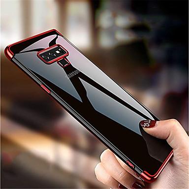 voordelige Galaxy Note 5 Hoesjes / covers-hoesje Voor Samsung Galaxy Note 9 / Note 8 / Note 5 Beplating / Doorzichtig Achterkant Effen Zacht TPU