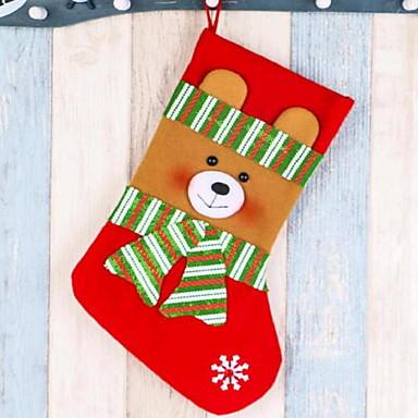 جوارب كرتون نسيج القطن مربع حداثة زينة عيد الميلاد