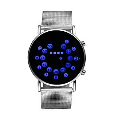 billige Herreure-Herre Dame Armbåndsur Digital Watch Digital Rustfrit stål Sølv 30 m Kronograf Selvlysende Sej Digital Farverig - Mørkeblå Rød Et år Batteri Levetid / Stor urskive / SSUO LR626