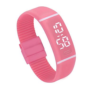 זול שעוני גברים-בגדי ריקוד גברים בגדי ריקוד נשים שעוני ספורט שעון דיגיטלי דיגיטלי שחור / לבן / ורוד כרונוגרף LCD שעונים יום יומיים דיגיטלי צמיד מינימליסטי - ירוק כחול ורוד שנה אחת חיי סוללה / SSUO 377
