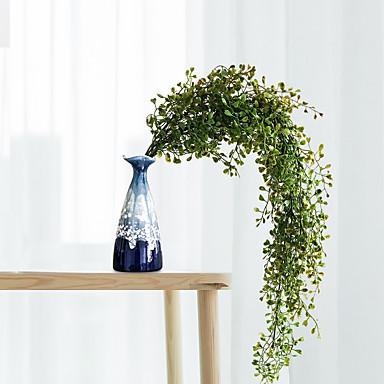 زهور اصطناعية 1 فرع كلاسيكي أنيق الحديث نباتات أزهار الحائط