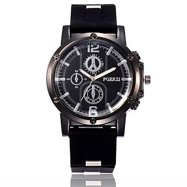 رجالي ساعة رياضية ساعة المعصم كوارتز سيليكون أسود / أزرق / أخضر تصميم جديد ساعة كاجوال تقليد الماس مماثل كاجوال موضة - أسود أخضر أزرق سنة واحدة عمر البطارية